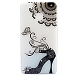 For Huawei P8 Lite (2017) P9 Lite Case Cover High Heels Pattern Painted Point Drill Scrub TPU Material Luminous Phone Case