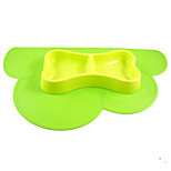Cloud flowers silicone mat Small pets rice bowl Dogs and cats eating utensils Dog Food Bowl Anti spill
