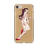 Für Transparent Muster Hülle Rückseitenabdeckung Hülle Sexy Lady Weich TPU für AppleiPhone 7 plus iPhone 7 iPhone 6s Plus iPhone 6 Plus