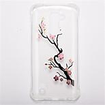 For  LG K10 LG K8 Shockproof Transparent Pattern Case Back Cover Case Flower Soft TPU  LG K7