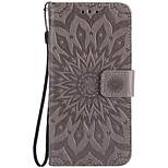 For Moto G4 Play Z Force Card Holder Wallet Flip Embossed Case Full Body Case Sunflower Hard PU Leather for G2 X Style G4