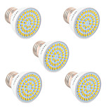 5W GU10 GU5.3(MR16) E26/E27 Focos LED 54 SMD 2835 400-500 lm Blanco Cálido Blanco Fresco Blanco Natural Decorativa V 5 piezas