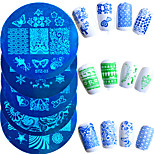 10pcs/set Hot Sale Nail Art Stamping Plate Fashion Stainless Steel Stencils Lovely Design Colorful Butterfly Flower Manicure Stencils STZ-01-10