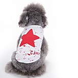 Cat Dog Vest Dog Clothes Summer Stars Cute Fashion Casual/Daily Red Black Blue Cotton Dog Clothing for Pets