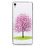 For Sony Xperia XA Case Cover Tree Pattern Luminous TPU Material IMD Process Soft Case Phone Case