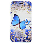 For Huawei P8 Lite (2017) P10 Case Cover Butterfly Pattern HD Painted Voltage TPU Process PU Skin Phone Case