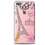 For IPhone 7 Case Back Cover Case TPU Romantic Tower  Pattern for iPhone 7/ 7 Plus 6s/ 6 /6s Plus / 6 Plus/ SE / 5s / 5 /5C/ 4/4s