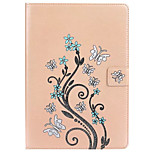 For Apple iPad Pro 9.7'' Case Cover Card Holder with Stand Embossed Full Body Butterfly Hard PU Leather