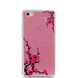For Huawei P9Lite P9 P8Lite Double IMD Case Back Cover Case Diagonal plum flower pattern Soft TPU