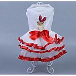 Perros Vestidos Ropa para Perro Verano Princesa Adorable Casual/Diario Morado Rojo Rosa