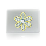 For MacBook Air 11 13/Pro13 15/Pro With Retina13 15/MacBook12 Flowers Decorative Skin Sticker Glow in The Dark