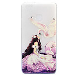 For Huawei P8 Lite (2017) P9 Lite Case Cover Beauty And Swan Pattern Painted Point Drill Scrub TPU Material Luminous Phone Case