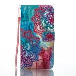 For Huawei P8 Lite (2017) Mate 9 Card Holder Wallet with Stand Flip Pattern Case Full Body Case Flower Hard PU Leather
