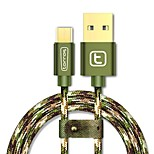 USB 2.0 Micro USB 2.0 Tressé Câble Pour Samsung Huawei Sony Nokia HTC Motorola LG Lenovo Xiaomi 300 cm Nylon Aluminium TPE