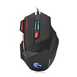 Высококачественная оптическая профессиональная игровая мышь hxsj с 7 яркими цветами, с подсветкой и эргономичным дизайном для удобного