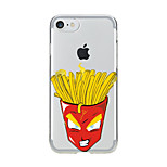 For Transparent Pattern Case Back Cover Case Cartoon  French Fries  Soft TPU for IPhone 7 7Plus iPhone 6s 6 Plus iPhone 6s 6 iPhone 5s 5 5E 5C 4 4s