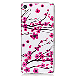 For Sony Xperia XA Case Cover Plum Blossom Pattern Luminous TPU Material IMD Process Soft Case Phone Case