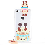 For Transparent Pattern Case Back Cover Case 3D Cartoon Hard PC for Apple iPhone 7 Plus  7  6s Plus 6 Plus  6s 6