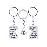 1Pcs  Father'S And  Mother'S  Day Gift  Souvenirs Or Birthday Present Keychain For Best Dad And Mom  Family