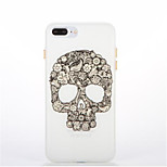 For Glow in the Dark Pattern Case Back Cover Case Skull Soft TPU for Apple iPhone 7 Plus 7  6s Plus 6 Plus 6s 6 5s 5