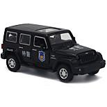 Coche de policía Vehículos de tracción trasera Juguetes de coches una y treinta y dos Metal Negro Modelismo y Construcción