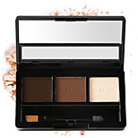 3 Colors Shimmer Powder Makeup Eyeshadow Palette Long Lasting Waterproof Natural Eyeshadow With Brush Beauty Women Gift