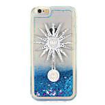 For Rhinestone Sun God Stars Flowing Liquid DIY Case Back Cover Case Glitter Shine Soft TPU for Apple iPhone 7 7 Plus 6s 6 Plus