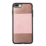 For Apple iPhone 7 Plus 7 TPU Material Plating Button Two-Color Weave Pattern Paste Skin Phone Case 6s Plus 6 Plus 6s 6 SE 5s 5