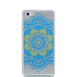 For Huawei P9Lite P9 P8Lite Double IMD Case Back Cover Case Datura Flower pattern Soft TPU