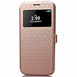 For LG G5 Card Holder / Wallet / with Stand with Window Case Full Body Case Geometric Pattern Hard PU Leather