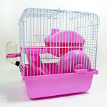 Rodents Chinchillas Cages Portable Cosplay Multi-function Metal Plastic Blue Pink
