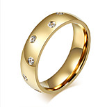 Ring Fashion Steel Circle Gold Jewelry For Daily 1pc