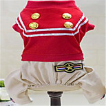 Dog Clothes/Jumpsuit Dog Clothes Spring/Fall Sailor Cute