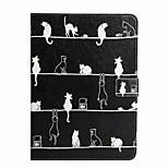 Für Geldbeutel Kreditkartenfächer mit Halterung Flipbare Hülle Muster Hülle Handyhülle für das ganze Handy Hülle Katze Hart PU - Leder für