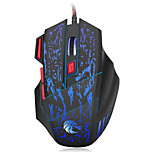 HXSJ brand gaming mouse with 7 buttons and breathing lights of 7 colors  ABS 1000, 1600, 2400, 3200 ,5500 DPIMini Трекболисенсорная
