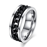 R-016 Fashion Jewelry Cool Spinner Black/Gold/Steel Chain Couple Ring For Men Women Exquisite Lovers Wedding Ring Best Gifts