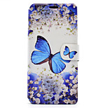 For Sony Xperia XA E5 Case Cover Butterfly Pattern HD Painted Voltage TPU Process PU Skin Phone Case Xperia C6 Ultra