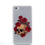 For Huawei P9Lite P9 P8Lite Double IMD Case Back Cover Case Rose Skeleton pattern Soft TPU