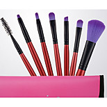 Makeup Brush Set Synthetic Hair Professional Plastic Face Eye Lip