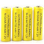 hbb aa al nichel cadmio batteria ricaricabile 1.2v 400mAh 20 Pack