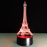 romantico Francia Torre Eiffel 3d ha condotto la luce di notte rgb mutevole umore lampada usb lampada da tavolo decorativa bambini amici
