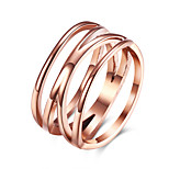 Ring Euramerican Steel Round Rose Jewelry For Daily 1pc