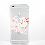 For Pattern Case Back Cover Case Cat Flower Soft TPU for Apple iPhone 7 Plus iPhone 7 iPhone 6s Plus iPhone 6 Plus iPhone 6s iPhone 6