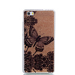 For  Huawei P9Lite P9 P8Lite Double IMD Case Back Cover Case Flowers And Butterflies Pattern Soft TPU