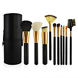 10 Makeup Brush Set Horse Goat Hair Bristle Synthetic Hair Professional Horse Hair Wood Face Eye Lip Others