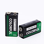 COLORFUL 9V Zinc Dry Cell Battery 9V 10 Pack