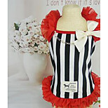 Dog Dress Dog Clothes Spring/Fall Stripe Cute Casual/Daily Black/White