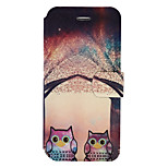 For Wiko Lenny3 Wiko Jerry Case Cover Owl Pattern Painted PU Material Card Holder Mobile Phone Holster Phone Case
