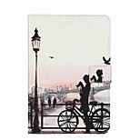 For Card Holder Wallet with Stand Flip Pattern Case Full Body Case City View Hard PU Leather for Apple iPad Mini 4 iPad Mini 3/2/1