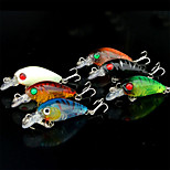 5 pcs Soft Bait Random Colors g/Ounce mm inch,Plastic General Fishing